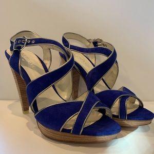 "Aldo ""Hatay"" Cobalt Blue Suede Sandals"
